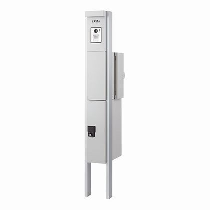Qual 門柱ユニット KS-GP10A(インターホン LED照明 小型宅配ボックス付) ライトグレー KS-GP10A-E-M3R-TL 門柱 ポスト スタイリッシュ