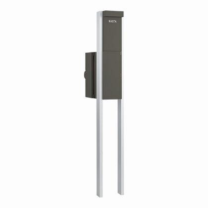 Qual 門柱ユニット KS-GP10A(LED照明付) ブラック KS-GP10A-ENH-M3L-BK 門柱 ポスト スタイリッシュ, MJ DIVA 15689e46