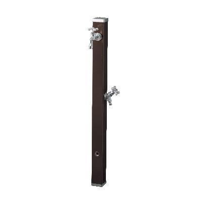 Spre スプレスタンド70 蛇口2個セット(シルバー) チョコブラウン W74×H700(1000)×D74mm 600502320