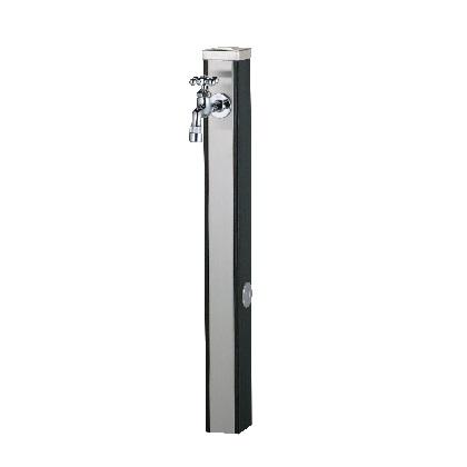 Spre スプレスタンド70 蛇口1個セット(シルバー) ウッドブラック W74×H700(1000)×D74mm 600511120