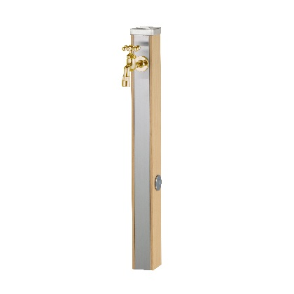 Spre スプレスタンド70 蛇口1個セット(ゴールド) ウッドベージュ W74×H700(1000)×D74mm 600511310