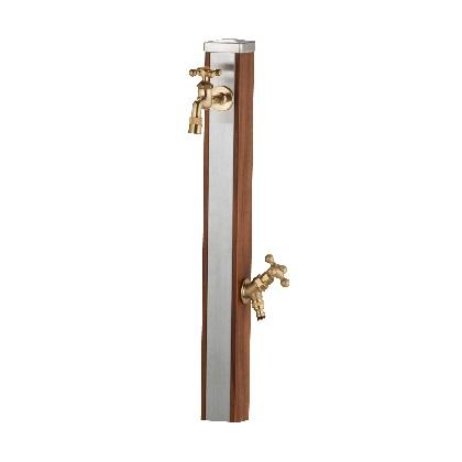 Spre スプレスタンド70 蛇口2個セット(ゴールド) ウッドブラウン W74×H700(1000)×D74mm 600512210