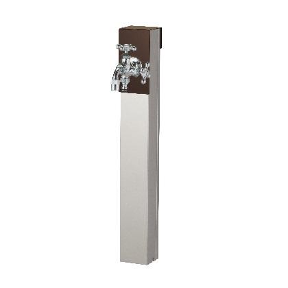 Lina リーナアロン 650スタンド ツイン蛇口1個セット(シルバー) チョコブラウン W94×H650(955)×D81mm 600612520