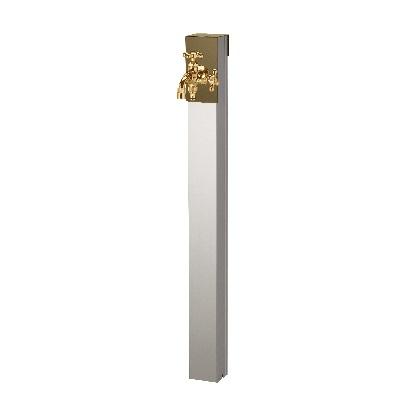 Lina リーナアロン 950スタンド ツイン蛇口1個セット(ゴールド) オリーブドラブ W94×H950(1255)×D81mm 600622410