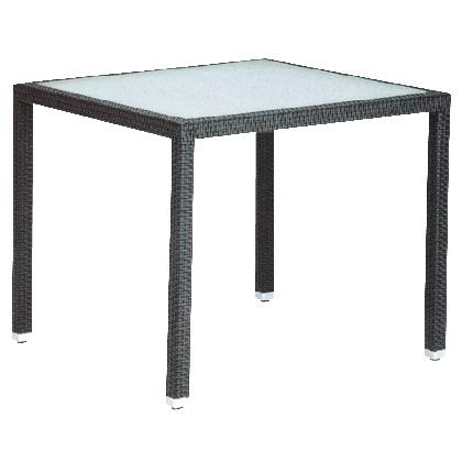 ユニソン MAテーブル900X900 ブラック W900×H750×D900mm 650504110
