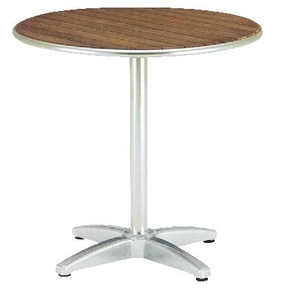 ユニソン ラウンドテーブル AU800 チーク Φ800×H730mm 650702210