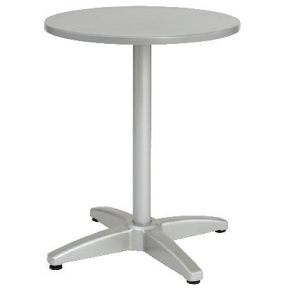 ユニソン ラウンドテーブル AU600 シルバー Φ600×H735mm 650711110