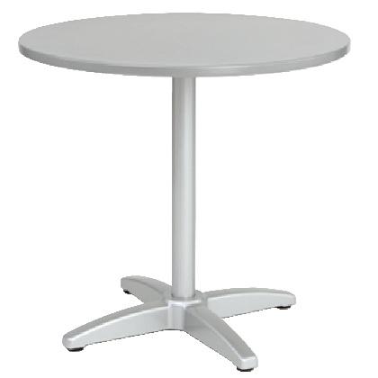 ユニソン ラウンドテーブル AU800 シルバー Φ800×H735mm 650712110