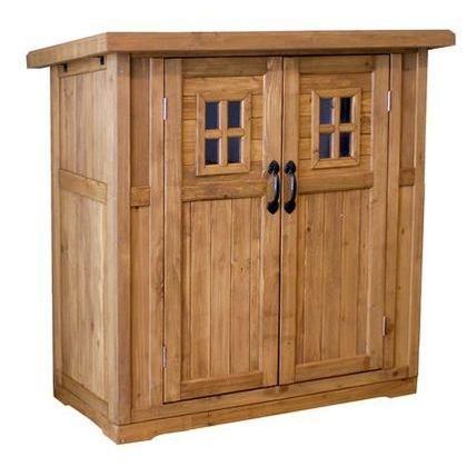 住まいスタイル カントリー小屋 小 ライトブラウン DNS-N0710SBR 木製収納庫 ベランダ収納