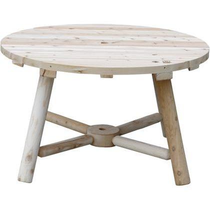 住まいスタイル Cedar Looks ラウンドパラソルテーブル ナチュラル(無塗装) NO13A