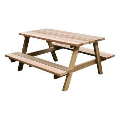 住まいスタイル レッドシダーピクニックテーブル ナチュラル OHPM-105