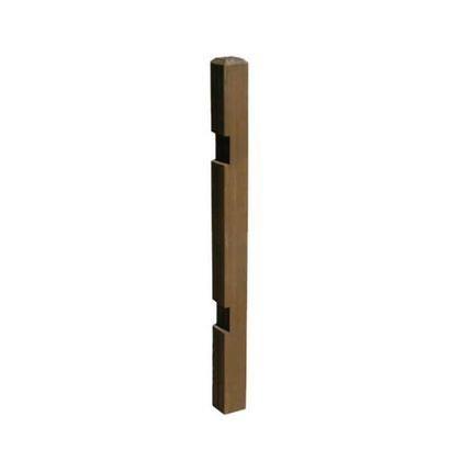 住まいスタイル ウッドフェンス用ポール(ロータイプ) ストレート(ダークブラウン) SFP-950DBR 10個 10セット