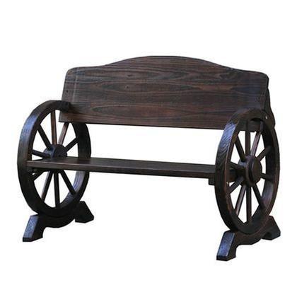 住まいスタイル 車輪ベンチ ダークブラウン WB-1100