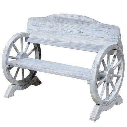 住まいスタイル 車輪ベンチ ホワイト WB-1100WHT
