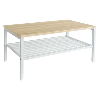 Lily リリー センターテーブル ナチュラル/ホワイト 幅900×奥行450×高さ400mm 43-111 テーブル スチール TV台