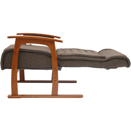紅葉 コイルバネ高座椅子 ブラウン 幅655×奥行750-1260×高さ585-1100mm 83-805 高座椅子 家具