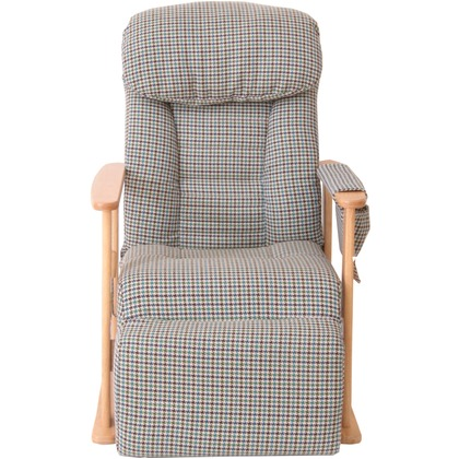梢 フットレスト付高座椅子 グリーン 幅630×奥行800-1360×高さ550-1060mm 83-818 高座椅子 家具