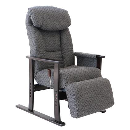 梢 フットレスト付高座椅子 グレー 幅630×奥行800-1360×高さ550-1060mm 83-835 高座椅子 家具