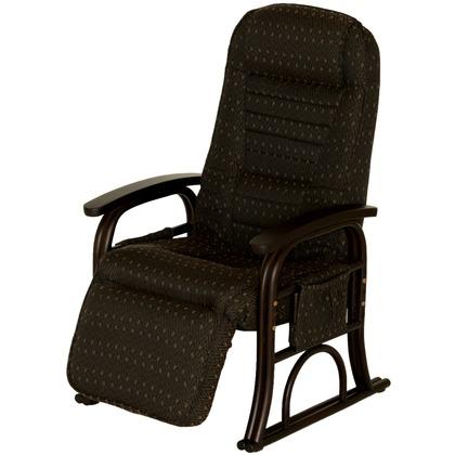 漣 さざなみ ラタンフットレスト付き高座椅子 ブラウン 幅580×奥行690-1260×高さ930-960mm 83-934 ラタン 座椅子