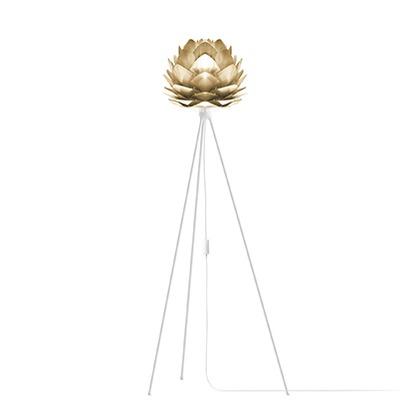 VITA SILVIA mini Brushed Brass (Tripod Floor/ホワイト) 02071-TF-WH
