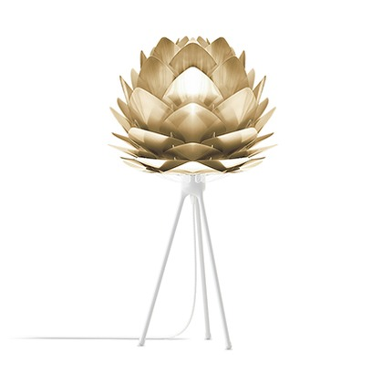 VITA Silvia mini Brushed Brass (Tripod Table/ホワイト) 02071-TT-WH