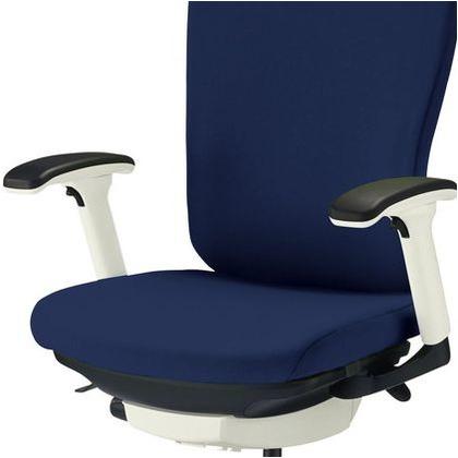 バーサル オフィスチェアー コズミックブルー 奥555~605mm×幅640mm×高942~1032mm No.3522F-K オフィスチェアー 事務用チェアー 事務用椅子 イス 75113