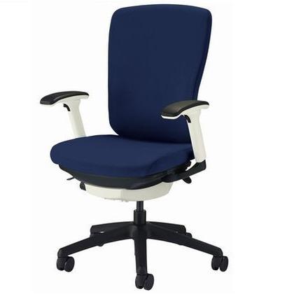 バーサル オフィスチェアー ブラック 奥555~605mm×幅640mm×高942~1032mm No.3522F-K オフィスチェアー 事務用チェアー 事務用椅子 イス 75117
