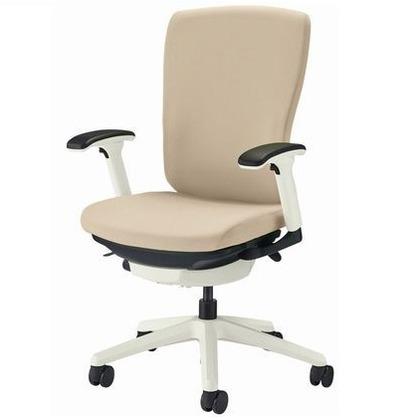 バーサル オフィスチェアー サンドベージュ 奥555~605mm×幅640mm×高942~1032mm 3522F-W オフィスチェアー 事務用チェアー 事務用椅子 イス 75132