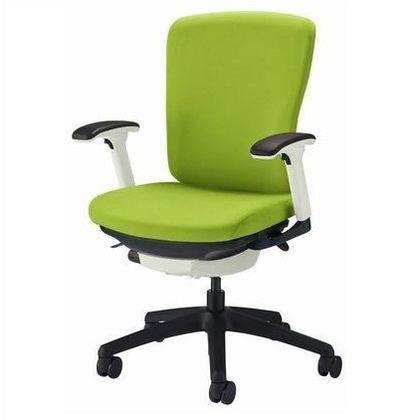 バーサル オフィスチェアー アップルグリーン 奥555~605mm×幅640mm×高902~992mm No.3512F-K オフィスチェアー 事務用チェアー 事務用椅子 イス 75152