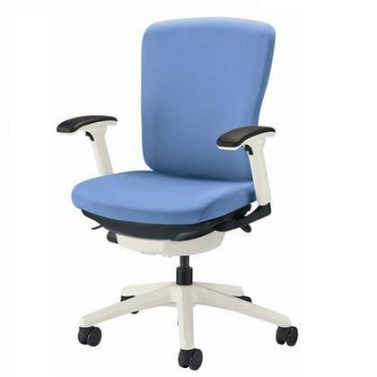 上品 バーサル オフィスチェアー アクアブルー 奥555~605mm×幅640mm×高902~992mm No.3512F-W 事務用チェアー 75166 春の新作シューズ満載 イス 事務用椅子