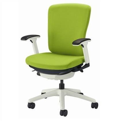 バーサル オフィスチェアー アップルグリーン 奥555~605mm×幅640mm×高902~992mm No.3512F-W オフィスチェアー 事務用チェアー 事務用椅子 イス 75170