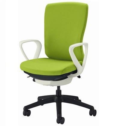 バーサル オフィスチェアー ブラック 奥555~605mm×幅640mm×高942~1032mm No.3521F-K オフィスチェアー 事務用チェアー 事務用椅子 イス 75111
