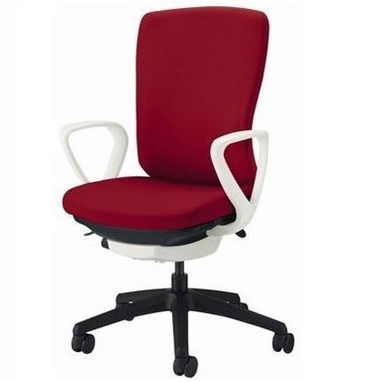 バーサル オフィスチェアー ソフトオレンジ 奥555~605mm×幅640mm×高942~1032mm No.3521S-K オフィスチェアー 事務用チェアー 事務用椅子 イス 75177
