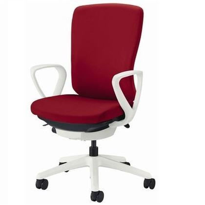 バーサル オフィスチェアー ソフトオレンジ 奥555~605mm×幅640mm×高942~1032mm No.3521S-W オフィスチェアー 事務用チェアー 事務用椅子 イス 75186