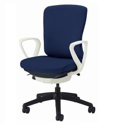 バーサル オフィスチェアー ブラック 奥555~605mm×幅640mm×高902~992mm No.3511F-K オフィスチェアー 事務用チェアー 事務用椅子 イス 75147