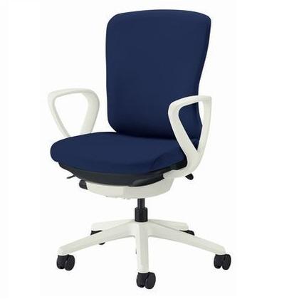 バーサル オフィスチェアー コズミックブルー 奥555~605mm×幅640mm×高902~992mm No.3511F-W オフィスチェアー 事務用チェアー 事務用椅子 イス 75161