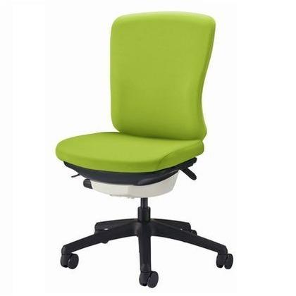 バーサル オフィスチェアー アップルグリーン 奥555~605mm×幅640mm×高942~1036mm No.3520F-K オフィスチェアー 事務用チェアー 事務用椅子 イス 75104