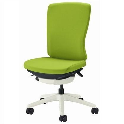 バーサル オフィスチェアー アップルグリーン 奥555~605mm×幅640mm×高942~1042mm No.3520F-W オフィスチェアー 事務用チェアー 事務用椅子 イス 75122