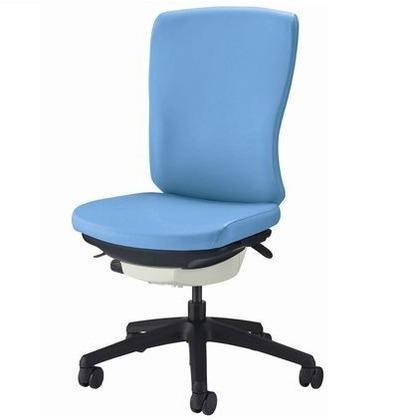 バーサル オフィスチェアー ソフトオレンジ 奥555~605mm×幅640mm×高942~1046mm No.3520S-K オフィスチェアー 事務用チェアー 事務用椅子 イス 75174