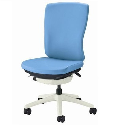 バーサル オフィスチェアー オールドブルー 奥555~605mm×幅640mm×高902~992mm No.3510S-W オフィスチェアー 事務用チェアー 事務用椅子 イス 75200
