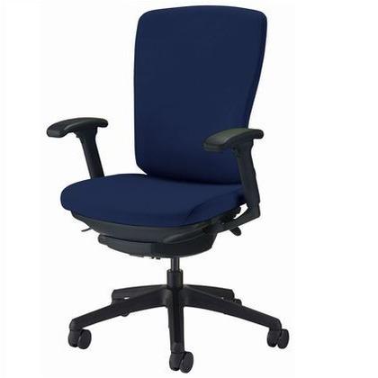 バーサル オフィスチェアー コズミックブルー 奥555~605mm×幅640mm×高942~1032mm No.3527F-K オフィスチェアー 事務用チェアー 事務用椅子 イス 75222