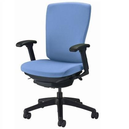 バーサル オフィスチェアー アクアブルー 奥555~605mm×幅640mm×高902~992mm No.3517F-K オフィスチェアー 事務用チェアー 事務用椅子 イス 75239