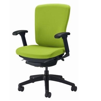 バーサル オフィスチェアー アップルグリーン 奥555~605mm×幅640mm×高902~992mm No.3517F-K オフィスチェアー 事務用チェアー 事務用椅子 イス 75243