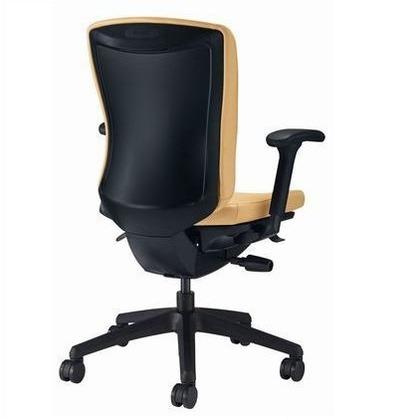 バーサル オフィスチェアー ソフトオレンジ 奥555~605mm×幅640mm×高902~992mm No.3517S-K オフィスチェアー 事務用チェアー 事務用椅子 イス 75262