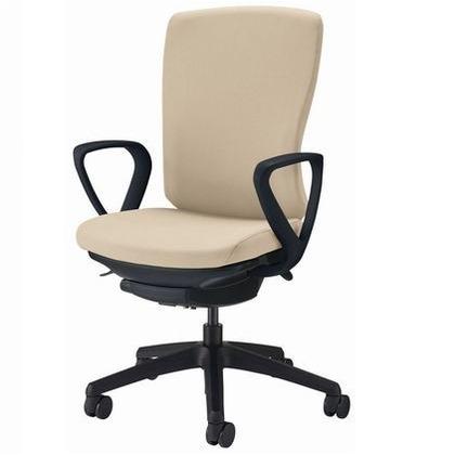 バーサル オフィスチェアー サンドベージュ 奥555~605mm×幅640mm×高942~1032mm No.3526F-K オフィスチェアー 事務用チェアー 事務用椅子 イス 75217