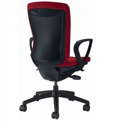 バーサル オフィスチェアー チェリーレッド 奥555~605mm×幅640mm×高942~1032mm No.3526F-K オフィスチェアー 事務用チェアー 事務用椅子 イス 75218