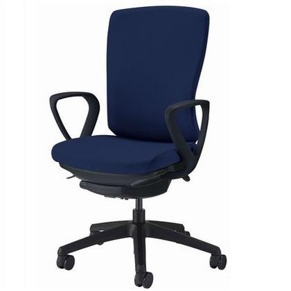 バーサル オフィスチェアー ブラック 奥555~605mm×幅640mm×高942~1032mm No.3526F-K オフィスチェアー 事務用チェアー 事務用椅子 イス 75220