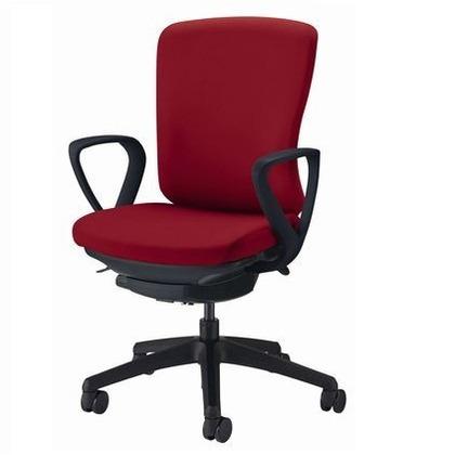 バーサル オフィスチェアー チェリーレッド 奥555~605mm×幅640mm×高902~992mm No.3516F-K オフィスチェアー 事務用チェアー 事務用椅子 イス 75236