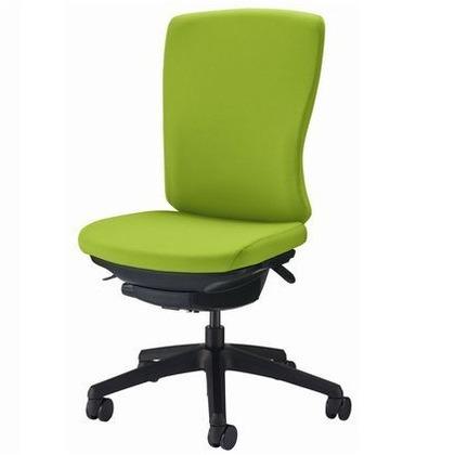 バーサル オフィスチェアー アップルグリーン 奥555~605mm×幅640mm×高942~1032mm No.3525F-K オフィスチェアー 事務用チェアー 事務用椅子 イス 75213