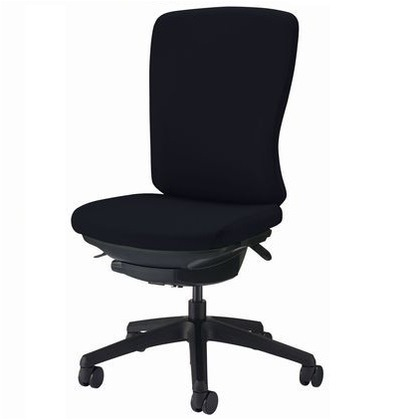 バーサル オフィスチェアー ブラック 奥555~605mm×幅640mm×高942~1032mm No.3525F-K オフィスチェアー 事務用チェアー 事務用椅子 イス 75214